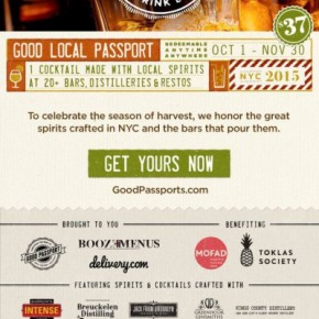 Fall Good Passport – 20 Cocktails – $37