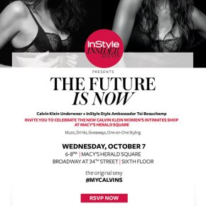The Future Is Now – Calvin Klein &Instyle