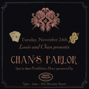 CHAN'S PARLOR ROARING 20'S – 35c COCKTAILS