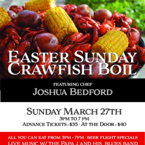 EASTER SUNDAY EATS – CRAWFISHBOIL