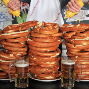 GIANT Pretzel Eating Contest