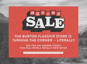 BURTON'S MOVING SALE EVENT