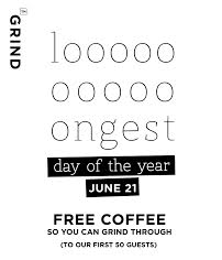Celebrate Summer Solstice with FREE Coffee