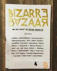 Bizarre Bazaar Artist Line Up