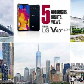 5 Boroughs. 5 Nights. 5 Views. w/the LG V40 ThinQ