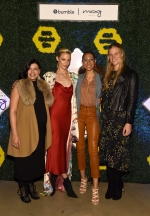 NEW YORK, NEW YORK - NOVEMBER 13: (L-R) Vicki Poulos, Jaime King, Elaine Welteroth and Andee Olson attend BumbleSpot #attheMoxy launch at Moxy NYC Downtown on November 13, 2018 in New York City. (Photo by Ilya S. Savenok/Getty Images for Bumble)