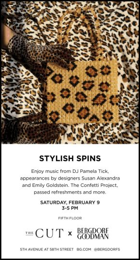 STYLISH SPINS AT BERGDORF GOODMAN