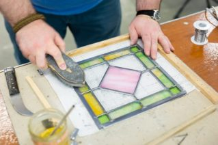Learn how to make a leaded glass panel