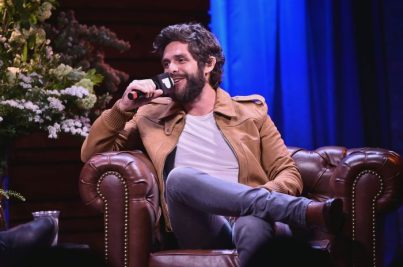 NEW YORK, NEW YORK - MAY 30: Thomas Rhett speaks on stage during Pandora Sound On Thomas Rhett Center Point Road Powered By Marshalls on May 30, 2019 in New York City. (Photo by Theo Wargo/Getty Images for Pandora Media)