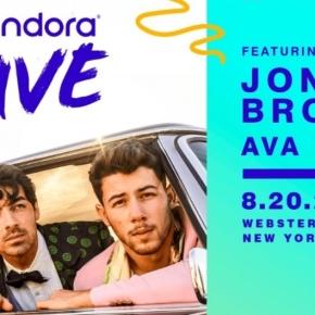 PANDORA LIVE – JONASBROTHERS