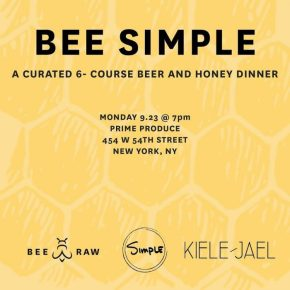 Bee Simple – A 6-Course Beer and Honey Dinner