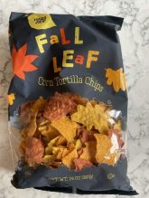 Fall Leaf Shaped Tortilla Chips